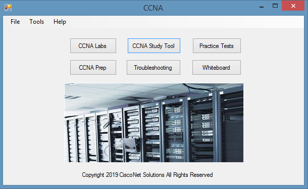 CCNA Test Launcher Screen shot